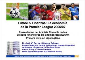 Análisis de los estados financieros de los equipos de la Premier League 2006-2007